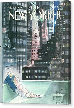 The New Yorker Cover - May 30th, 1988 Canvas Print by Jean-Jacques Sempe
