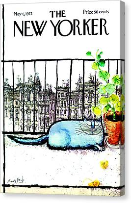 Pet Canvas Print - The New Yorker Cover - May 6th, 1972 by Ronald Searle