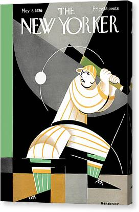 The New Yorker Cover - May 8th, 1926 Canvas Print by Conde Nast