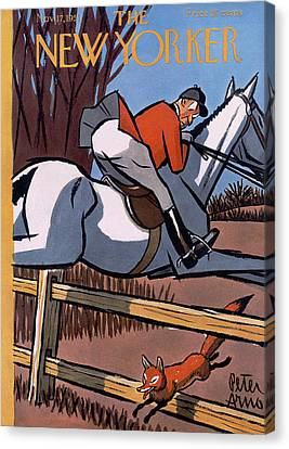 The New Yorker Cover - November 17th, 1951 Canvas Print by Peter Arno