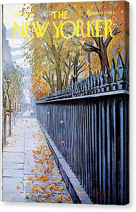 Times Square Canvas Print - Autumn In New York by Arthur Getz