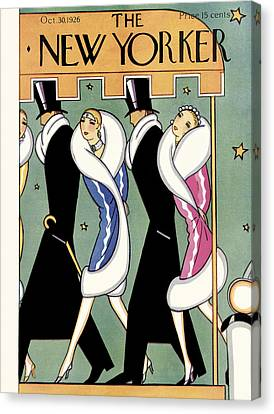 Reynolds Canvas Print - The New Yorker Cover - October 30th, 1926 by S W Reynolds