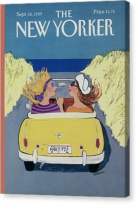 Barbara Canvas Print - The New Yorker Cover - September 18th, 1989 by Barbara Westman