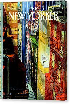 The New Yorker Cover - September 20th, 1993 Canvas Print by Jean-Jacques Sempe