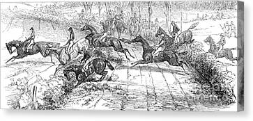 The Newport Pagnel Steeple Chase Canvas Print