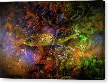 Brook Trout Image Canvas Print - The Next Best Thing by Rick Furmanek