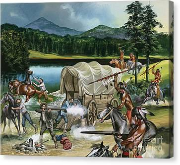 The Nez Perce Canvas Print by Ron Embleton