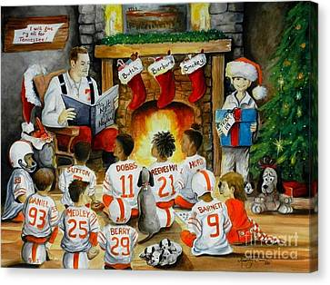 Christmas Eve Canvas Print - The Night Before Neyland by Kimberly Daniel