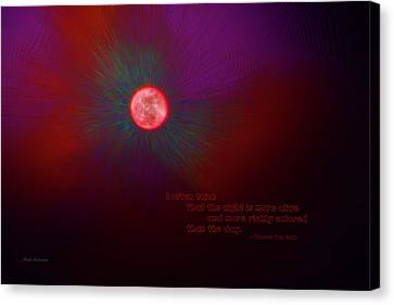 The Night Is More Alive Canvas Print by Mick Anderson