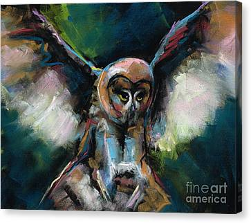 The Night Owl Canvas Print by Frances Marino