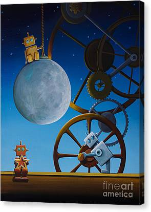 The Night Shift Canvas Print by Cindy Thornton