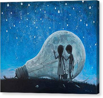 The Night We Broke The Moon Canvas Print by Adrian Borda