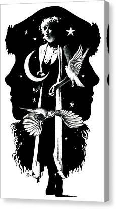 The Nightbird Canvas Print by Johanna Pieterman