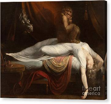 Red Dress Canvas Print - The Nightmare by Henry Fuseli