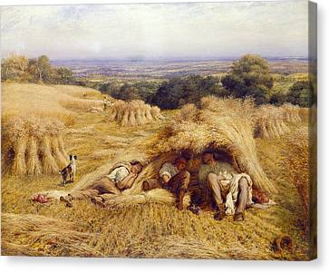 The Noonday Rest Canvas Print by John Linnell