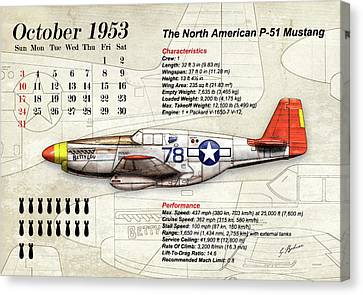 The North American P-51 Mustang V1 Canvas Print by Gary Bodnar