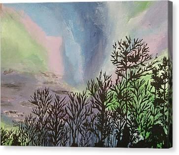 The Northern Lights Canvas Print by Nura Abuosba