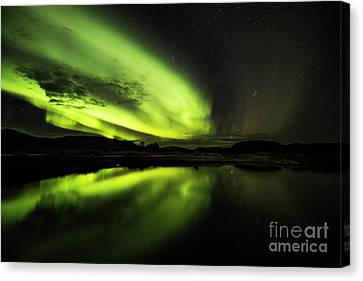 The Northern Lights Thingvellir Canvas Print