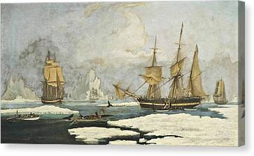 The Northern Whale Fishery Canvas Print by MotionAge Designs