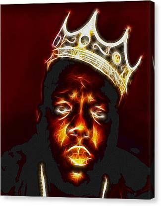 The Notorious B.i.g. - Biggie Smalls Canvas Print by Paul Ward
