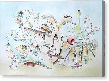 The Novelist Canvas Print by Dave Martsolf