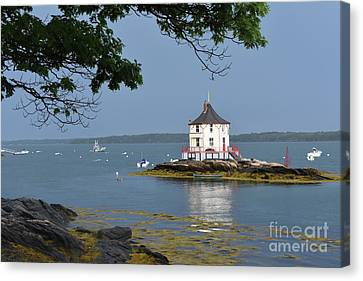 The Nubble In Casco Bay Maine Canvas Print by DejaVu Designs