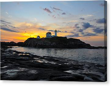The Nubble Light Canvas Print by Catherine Easton