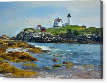 The Nubble Lighthouse Canvas Print by Lori Deiter