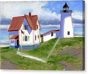 The Nubble Canvas Print by Mary Byrom