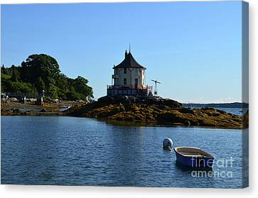 The Nubble Off Bustin's Island Canvas Print by DejaVu Designs