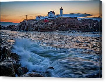 The Nubble Canvas Print by Rick Berk
