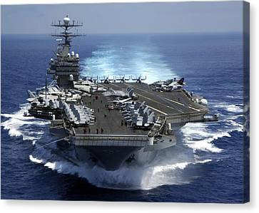 Operation Iraqi Freedom Canvas Print - The Nuclear Powered Aircraft Carrier by Everett