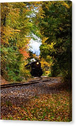 The Number 40 Rounding The Bend Canvas Print by Jeff Folger