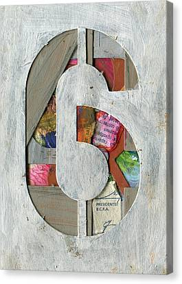 The Number 6 Canvas Print