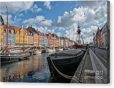 Canvas Print - The Nyhavn Canal In Copenhagen by Patricia Hofmeester