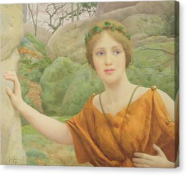 The Nymph Canvas Print by Thomas Cooper Gotch