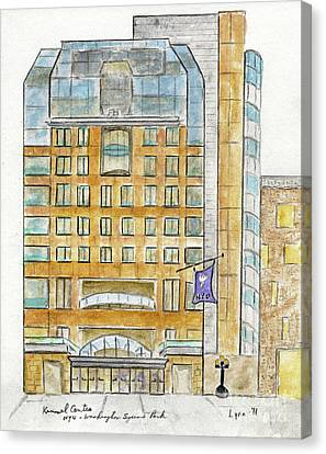The Nyu Kimmel Student Center Canvas Print by AFineLyne