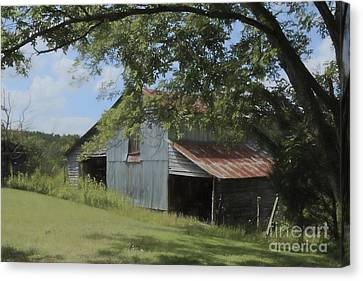 The Oak Branch Barn Canvas Print