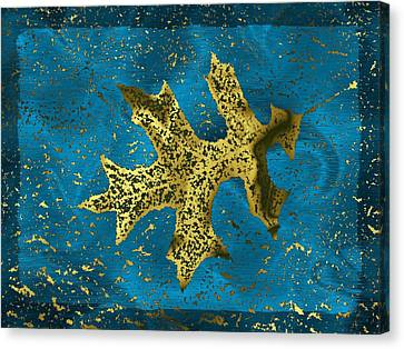 The Oak Leaf And The Wind Storm Canvas Print by Tim Allen