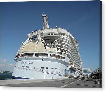 Canvas Print featuring the photograph The Oasis Of The Seas At Port Canaveral by Bradford Martin