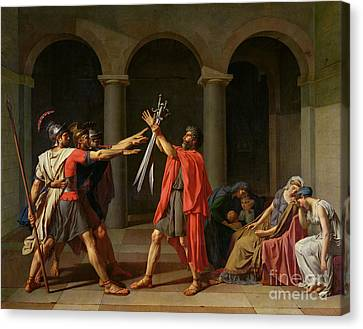 The Oath Of Horatii Canvas Print