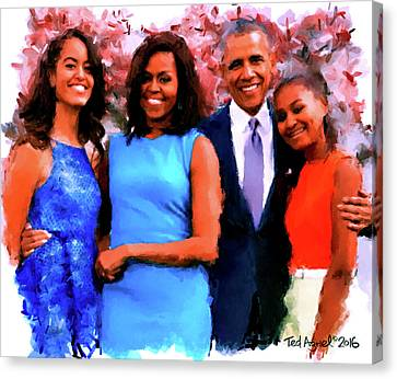 The Obama Family Canvas Print