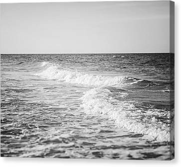 The Ocean Blue In Black And White Canvas Print