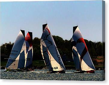 The Ocean Race Canvas Print