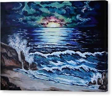 The Ocean Sings The Sky Listens Canvas Print by Cheryl Pettigrew