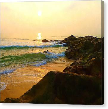 Sun Rays Canvas Print - Morning Has Broken by Stacey Chiew