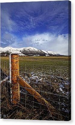 Canvas Print featuring the photograph The Ochils In Winter by Jeremy Lavender Photography