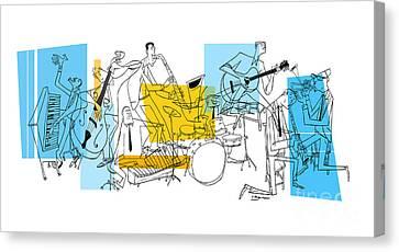 The Octet Canvas Print by Sean Hagan
