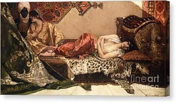 The Odalisque Canvas Print by Jean Joseph Benjamin Constant