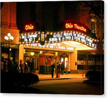 The Ohio Theater At Night Canvas Print